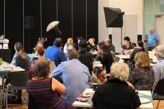 Nicole speaking - full room